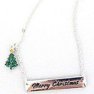 NWT *BOUTIQUE*   MERRY CHRISTMAS NECKLACE